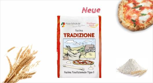 Pizzamehl Farina Tradizionale Tipo 1 15kg Pizzabäcker Pizza-Schule
