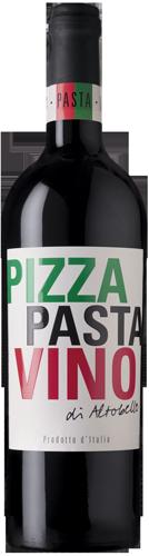 pizza pasta vino rosso