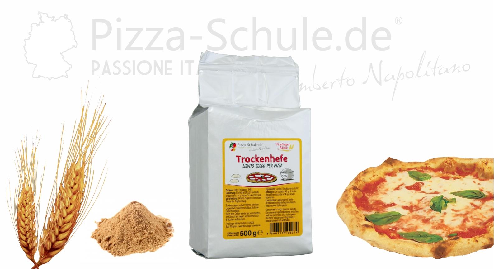 Trocknehefe Lievito secco Pizza - Pizza-Schule