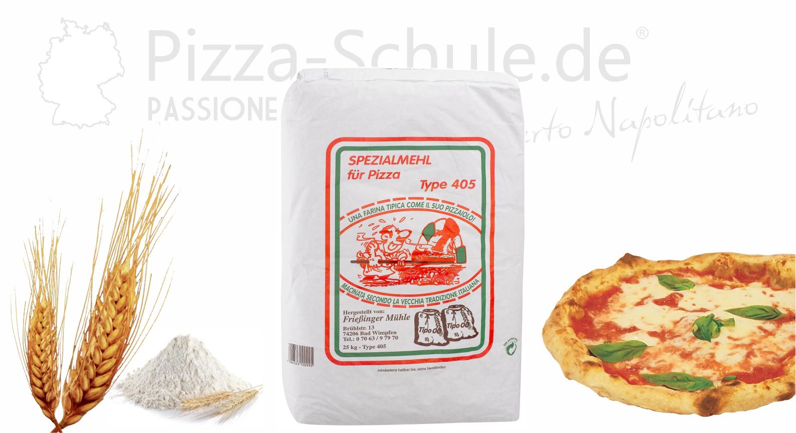 Farina Pizzamehl Pizzabäcker Typ 405 - Pizza-Schule