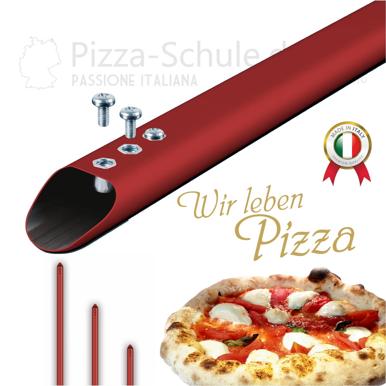 Aluminiumgriff für all unsere Pizza Schaufeln