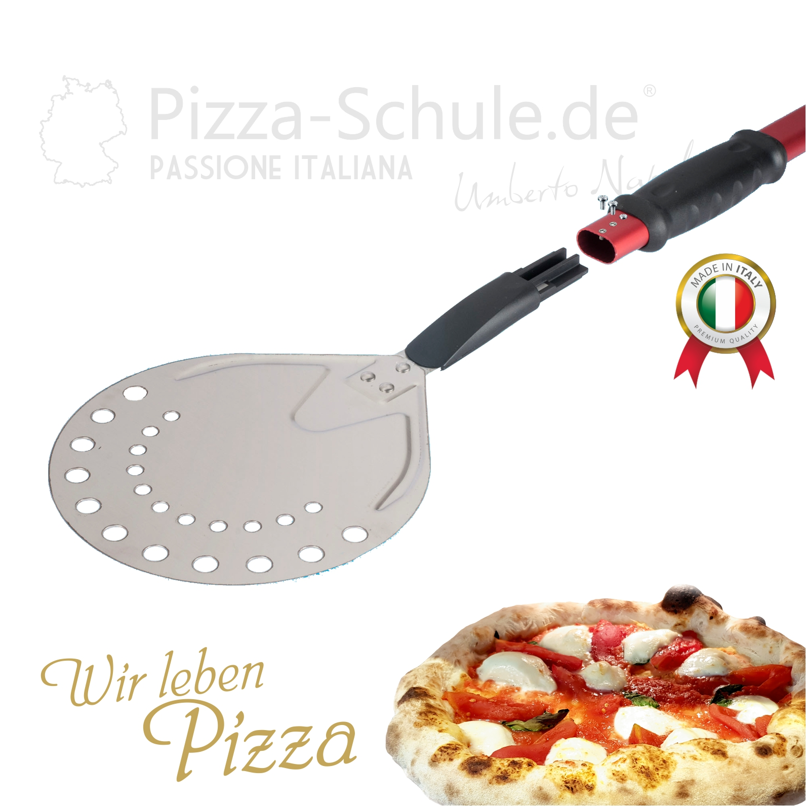 Pizza Schieber perforiert