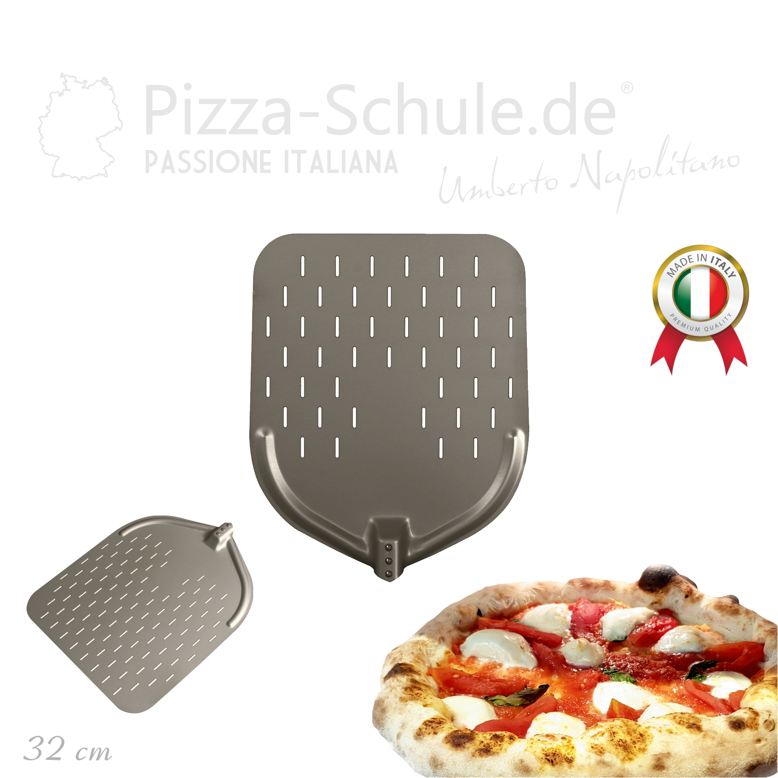 PAF2-HP-32 Pizza Schaufel perforiert HP-Serie - Pizza-Schule 1