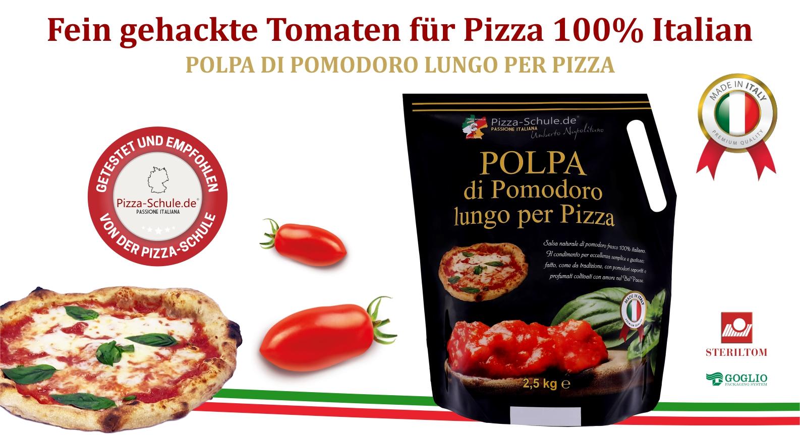 Fein gehackte Tomaten für Pizza 100% Italiano