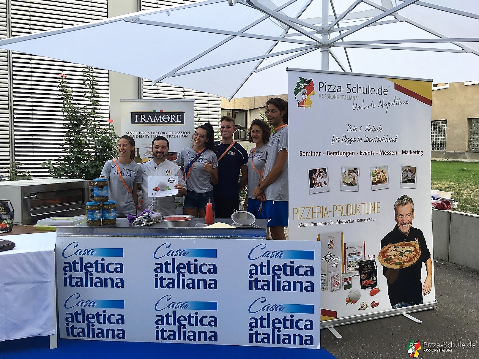 Atletica italiana 2018 Berlino - Pizza-Schule
