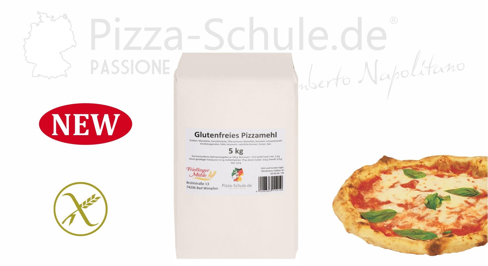 Glutenfreies Pizzamehl 5kg Pizza Schule