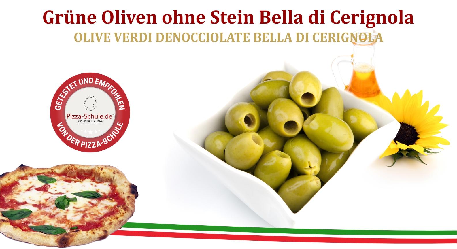 Grüne Oliven ohne Stein Bella di Cerignola