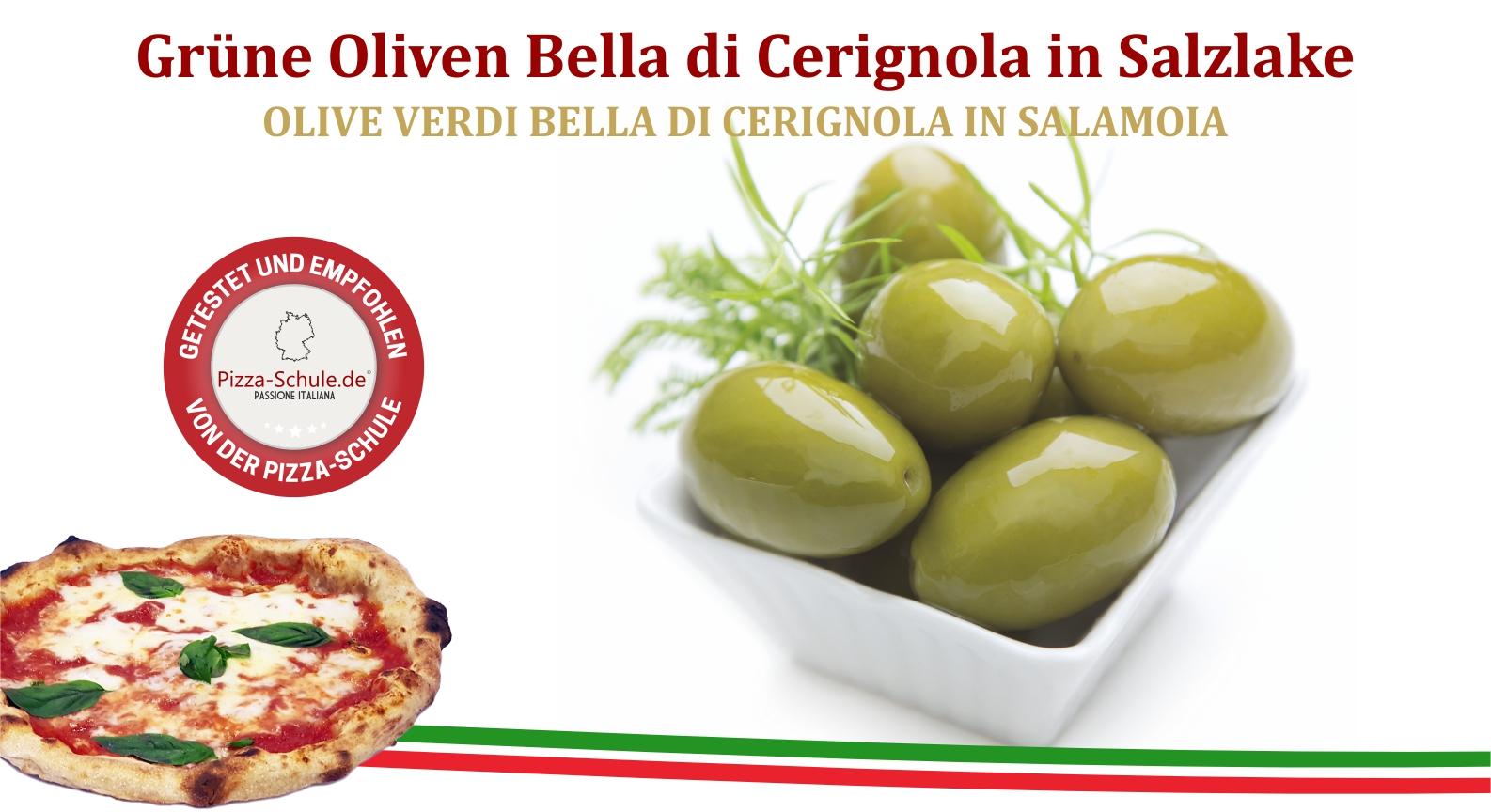 Grüne Oliven Bella di Cerignola in Salzlake