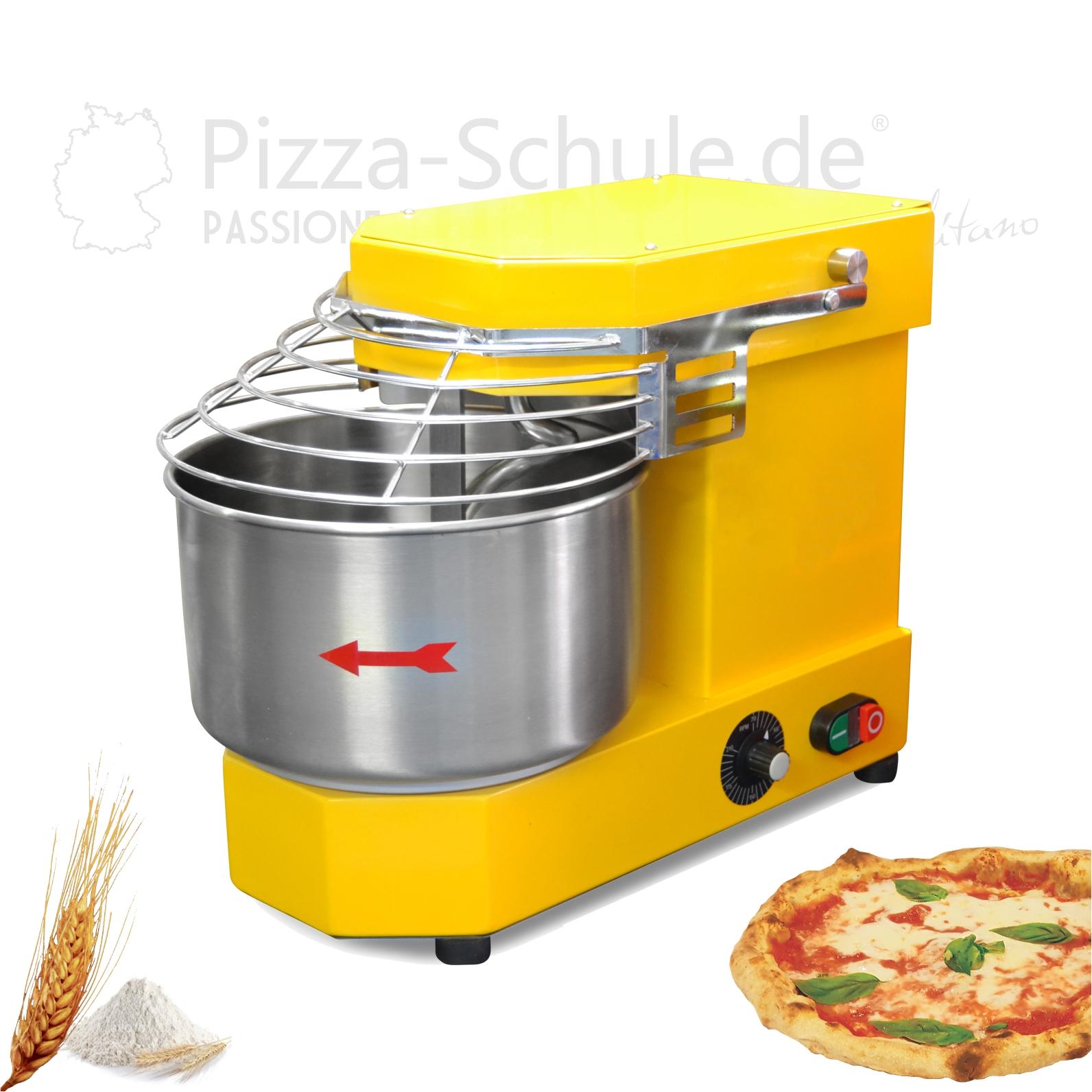 Professionelle Teigmaschine für kleine Teigmassen 6-10-15 kg Pizza-Schule 1a