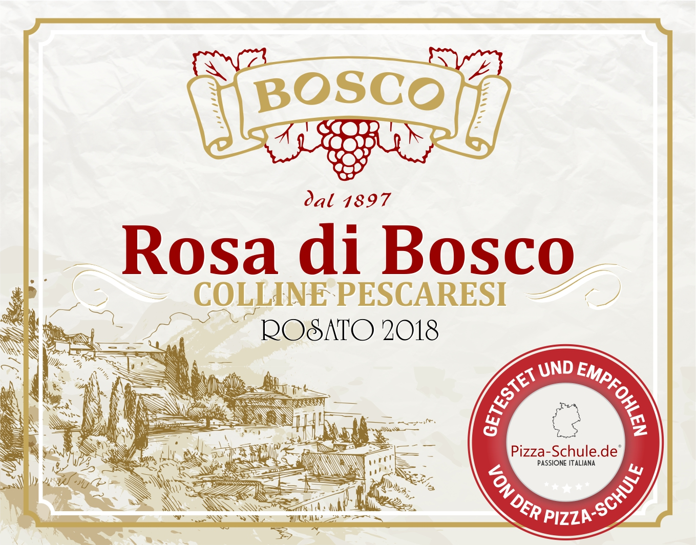 Rosa di Bosco - Rosato 2018 - Pizza-Schule