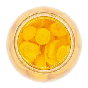 Halbgetrocknete gelbe Kirschtomaten