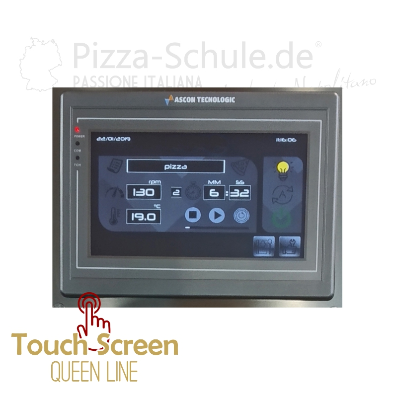 Pizza Teigmaschine Touch Screen Queen 0