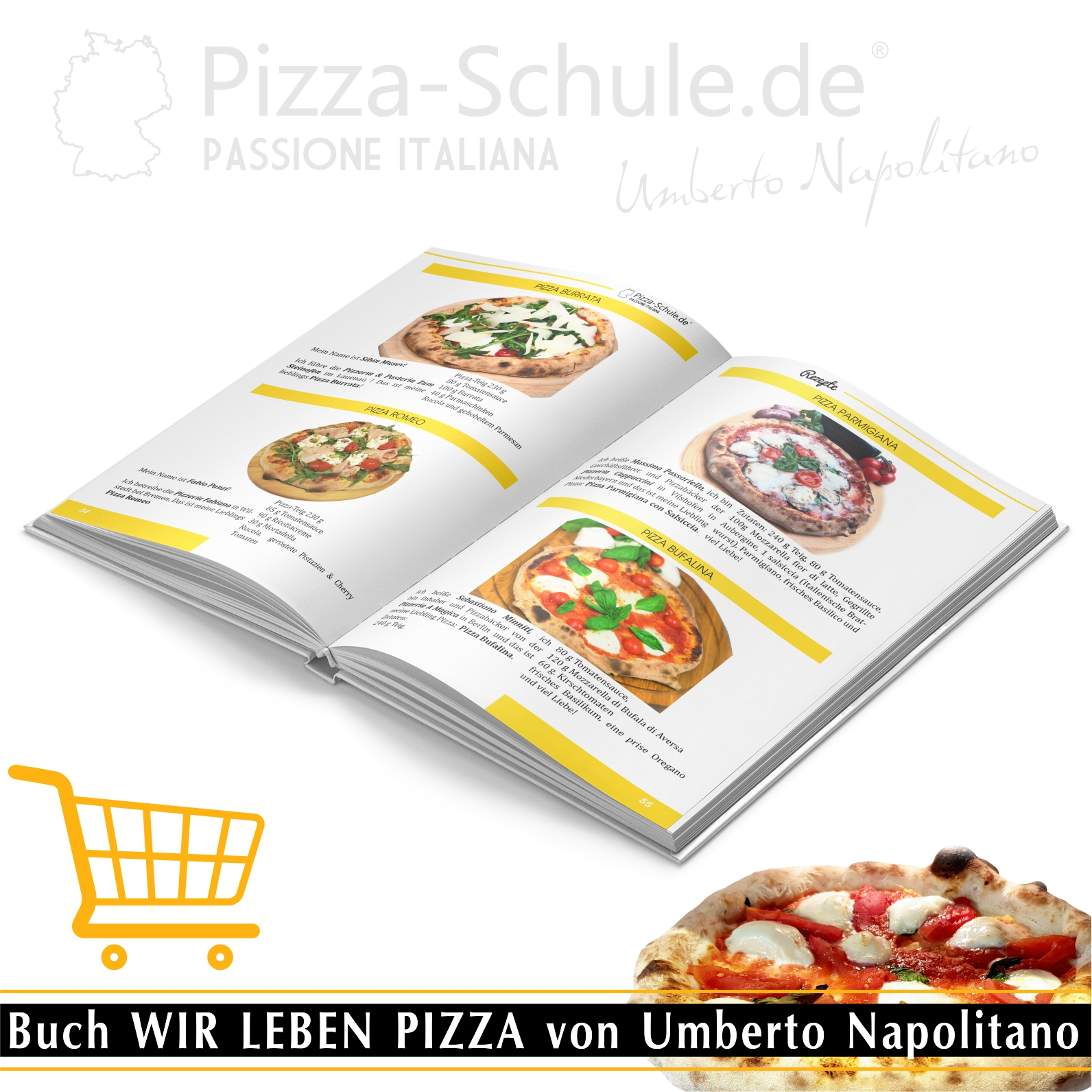 Buch WIR LEBEN PIZZA von Umberto Napolitano