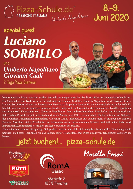 Pizza Seminar Luciano Sorbillo 8-9 Juni 2020 plakat 2