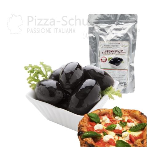 R010 - Schwarze Oliven Bella di Cerignola in Salzlake