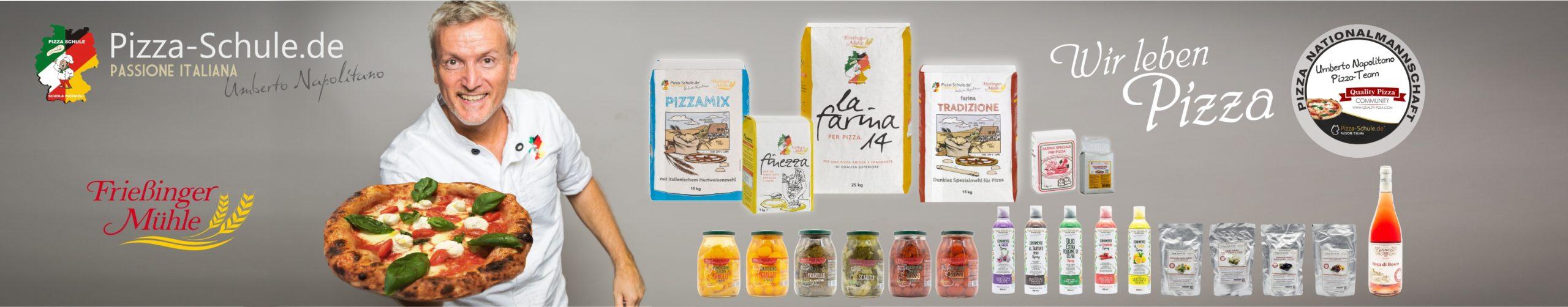 Pizzeria-Produktlinie Pizza-Schule