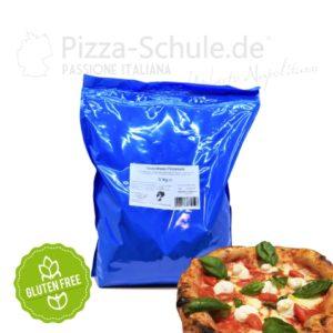 Glutenfreie Pizzamehl von der Pizza-Schule und Frießinger Mühle