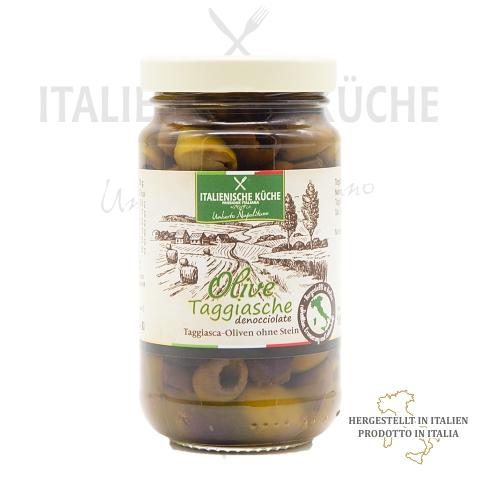 Taggiasca-Oliven ohne Stein – Olive Taggiasche denocciolate Italienische Küche g009