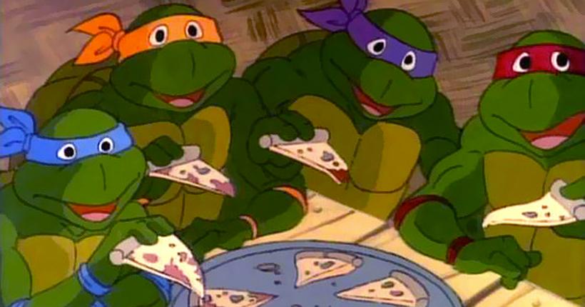 Zitat über Pizza geschrieben von Tartarughe Ninja alla riscossa