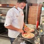 Pizza-Akrobatik zur Musik im Hause PUMA